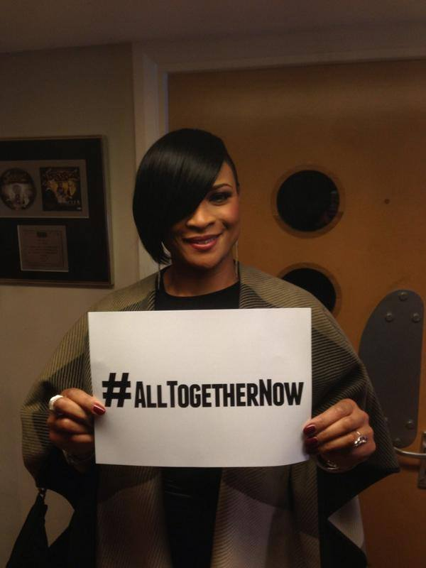 Gabrielle joins The Peace Collective for 'All Together Now'